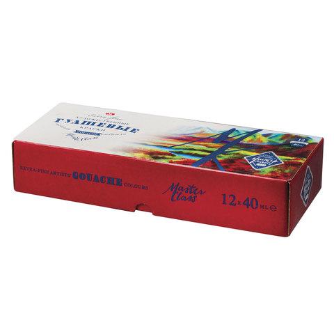 Гуашь художественная «Сонет», 12 цветов по 40 мл, 3641064
