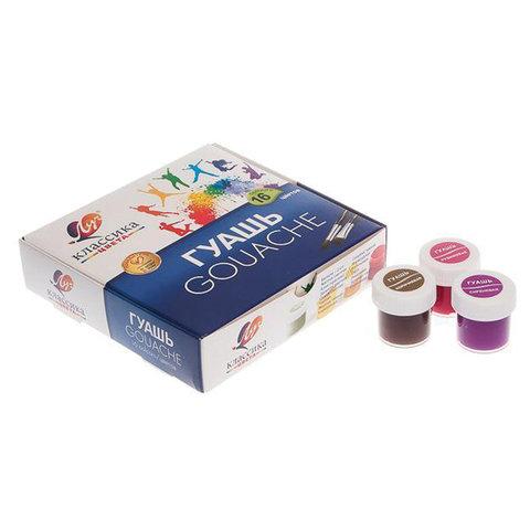 Гуашь ЛУЧ «Классика», 16 цветов по 20 мл, без кисти, картонная упаковка, 29С 1696-08