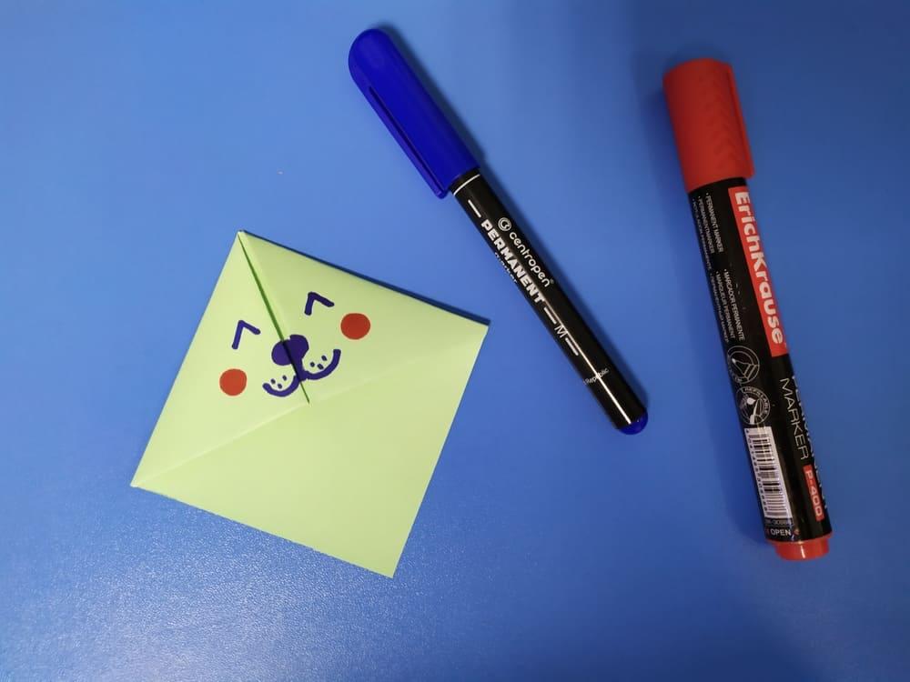 Как сделать милую закладку из бумаги - фото 10