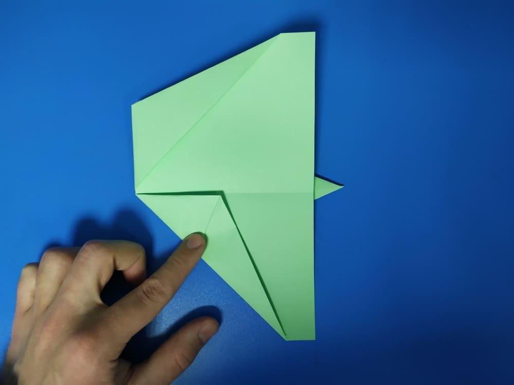 Самолетик из бумаги Истребитель - фото 6