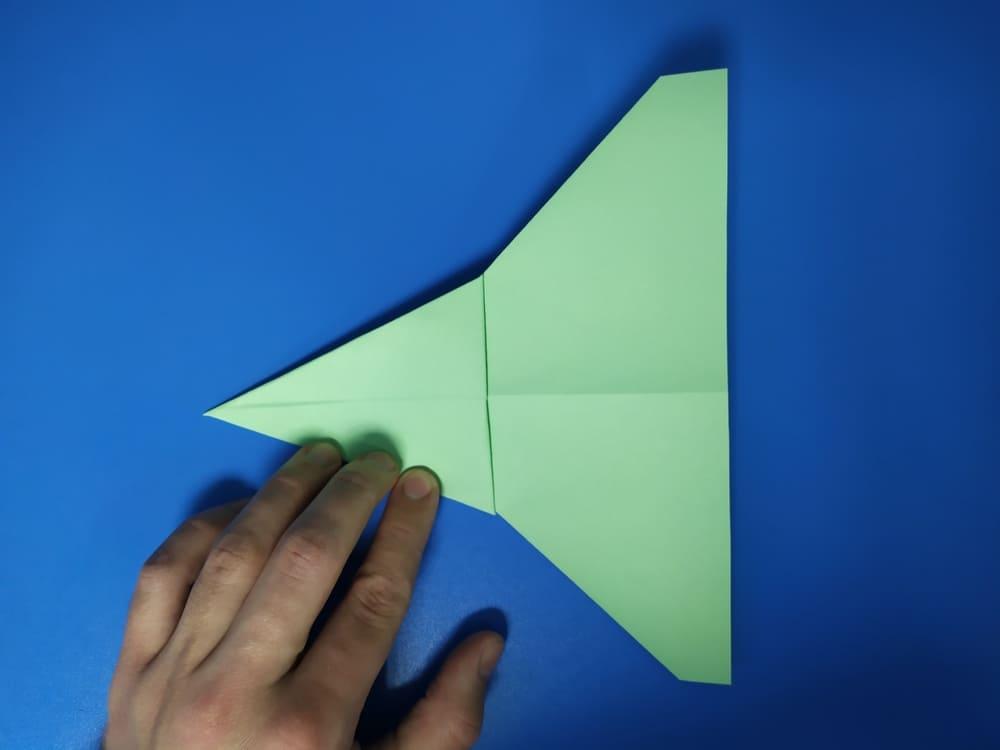 Самолетик из бумаги Истребитель - фото 7
