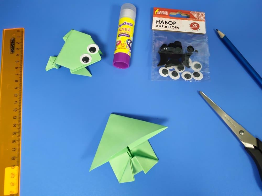 Лягушка из бумаги - фото 11