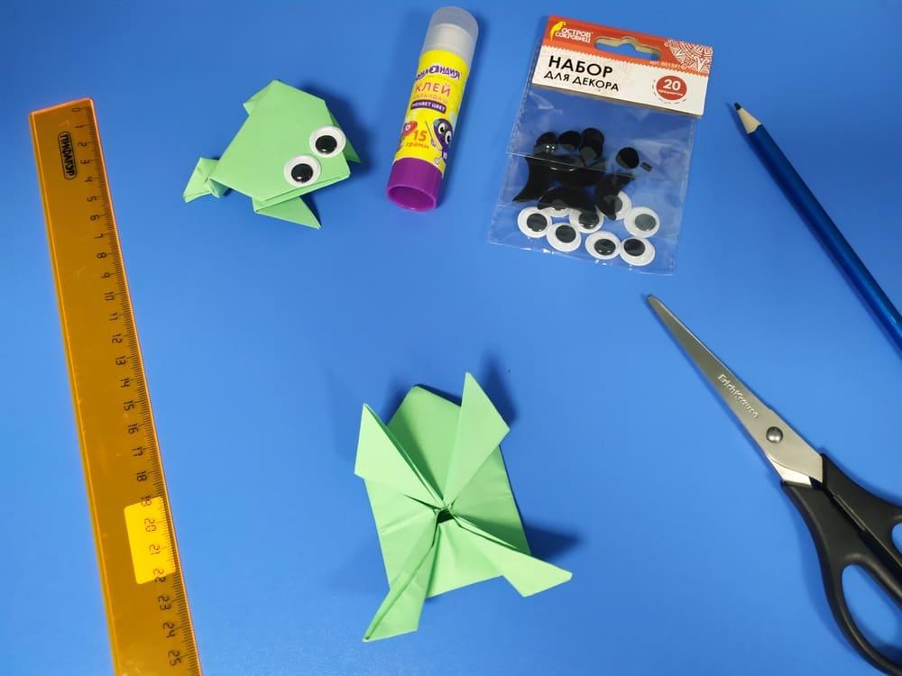 Лягушка из бумаги - фото 15