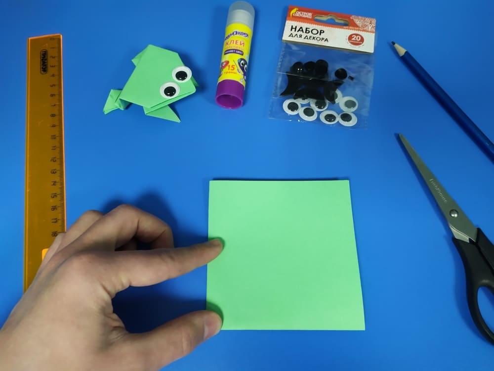 Лягушка из бумаги - фото 4