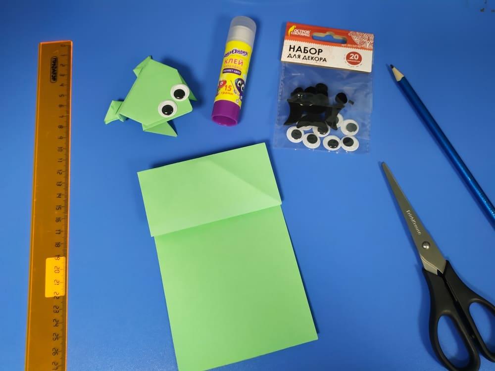 Лягушка из бумаги - фото 6