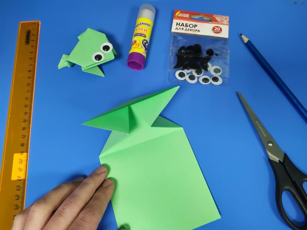 Лягушка из бумаги - фото 7