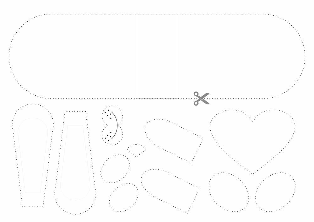 Поделка из бумаги Зайка с сердечком фото 1