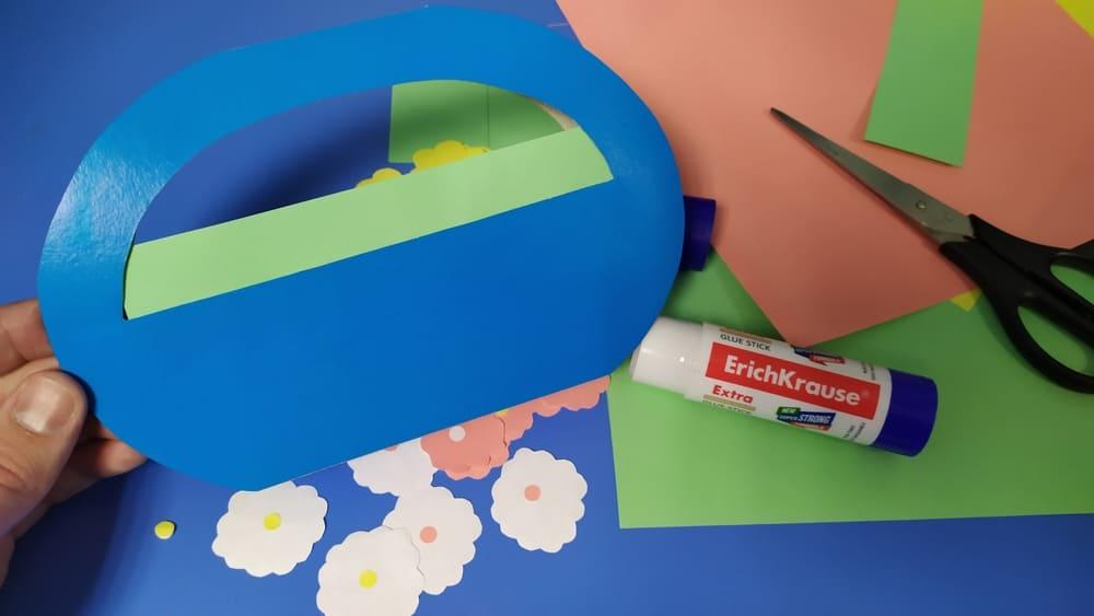 Корзинка из картона на 8 марта - фото 10