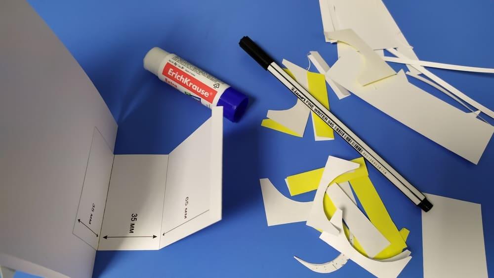 Фоторамка с лимонами из бумаги - фото 6