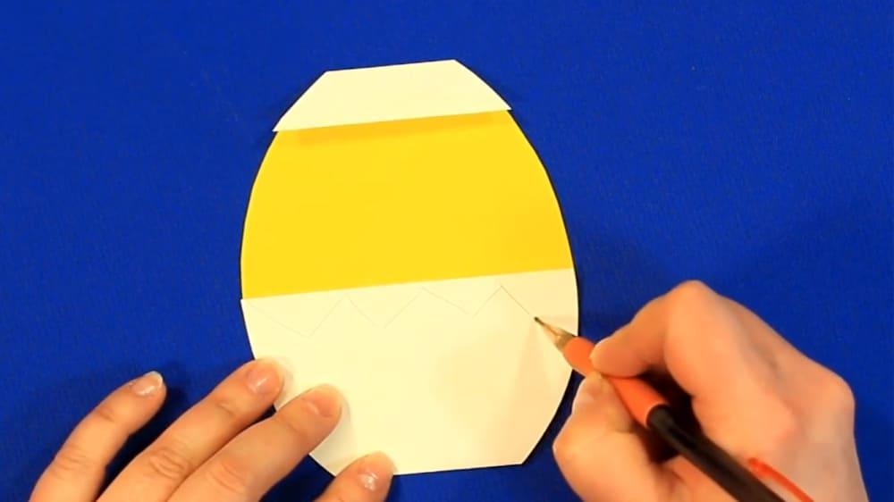 """Создание открытки из цветной бумаги """"Цыпленок"""" - фото 5"""