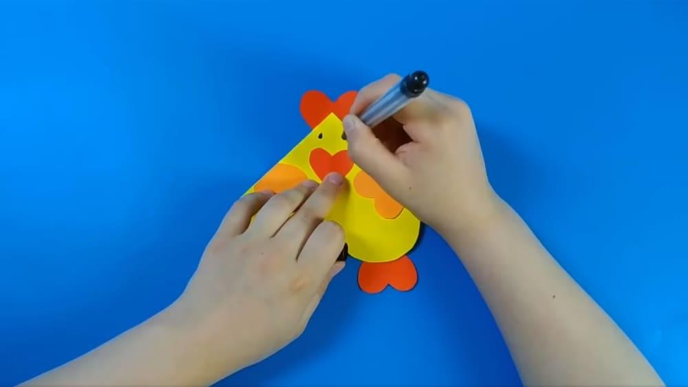 Открытка на Пасху своими руками в виде цыпленка - фото 8