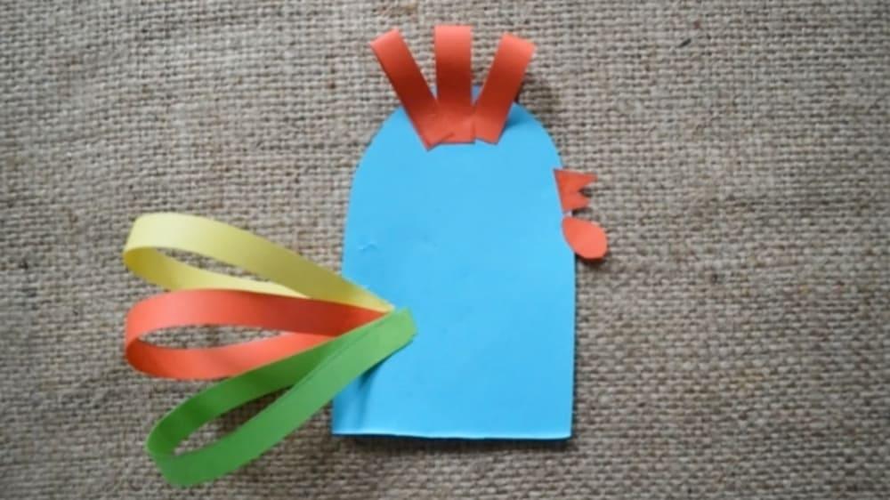 Петушок из бумаги - 4