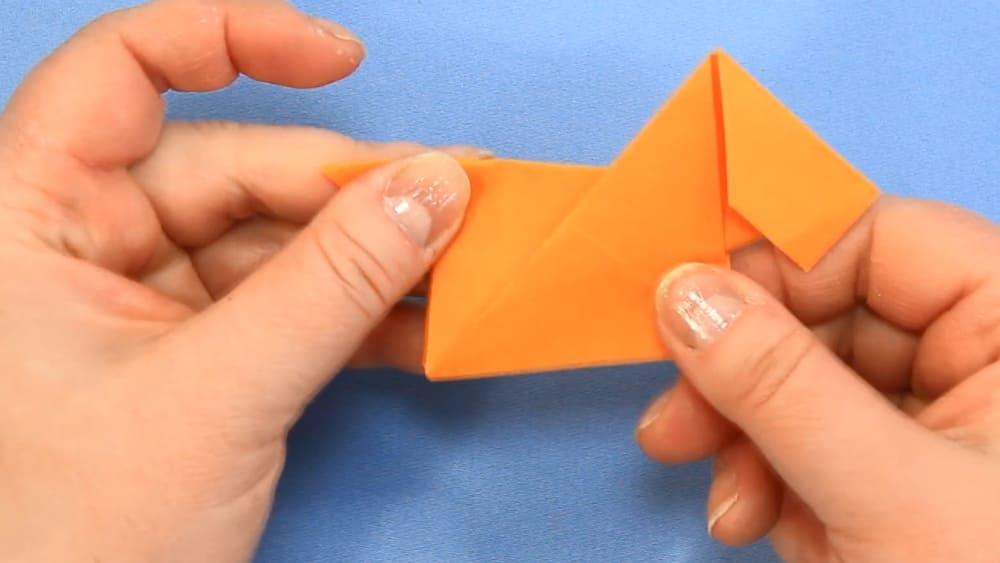 Собака-оригами из бумаги - 6