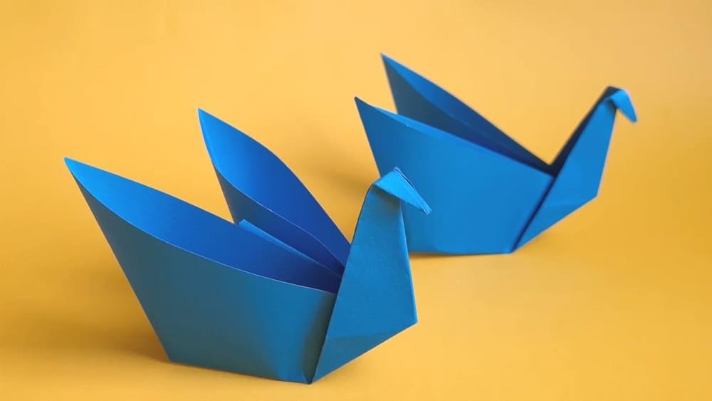 Лебедь из бумаги - фото 8