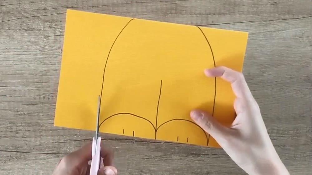 Лисичка из бумаги - фото 1