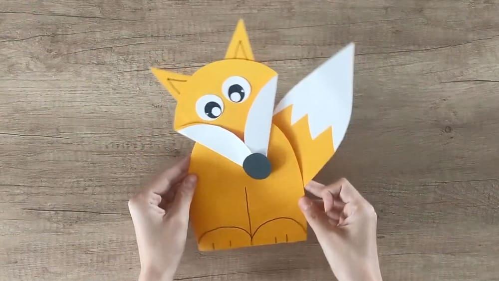 Лисичка из бумаги - фото 8