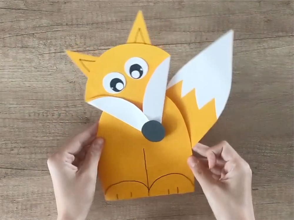 Лисичка из бумаги