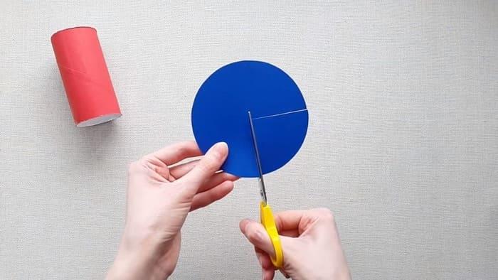 Ракета из цветного картона - фото 4