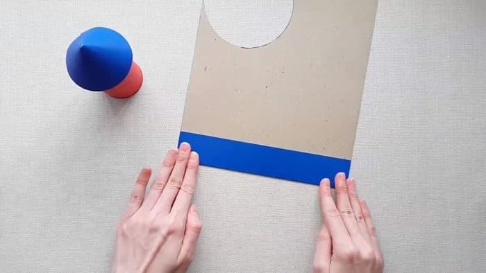 Ракета из цветного картона - фото 8