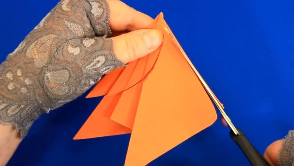 Кленовый лист из бумаги - фото 6