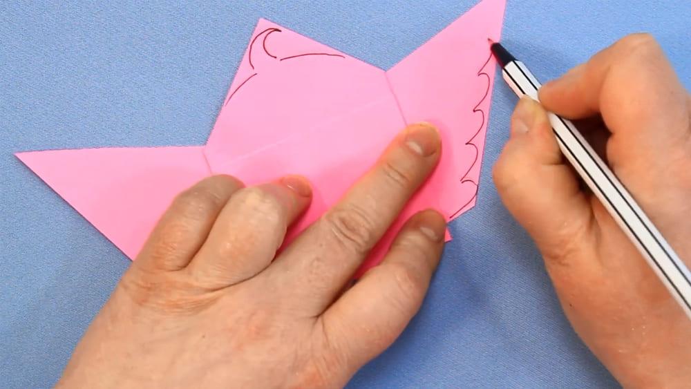 Птичка из бумаги - фото 14