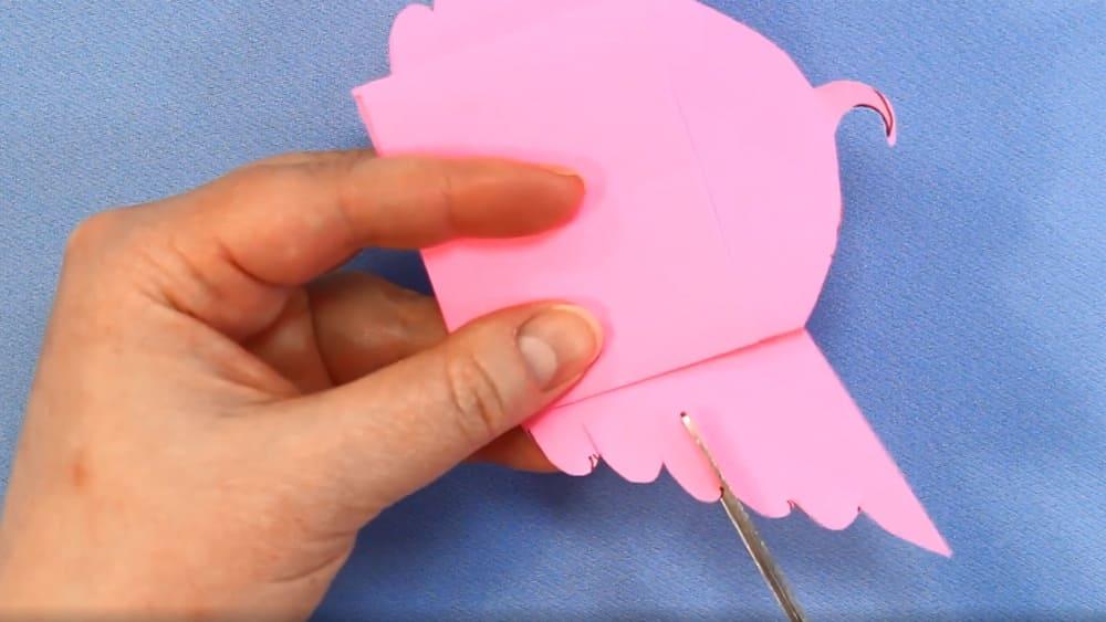 Птичка из бумаги - фото 16