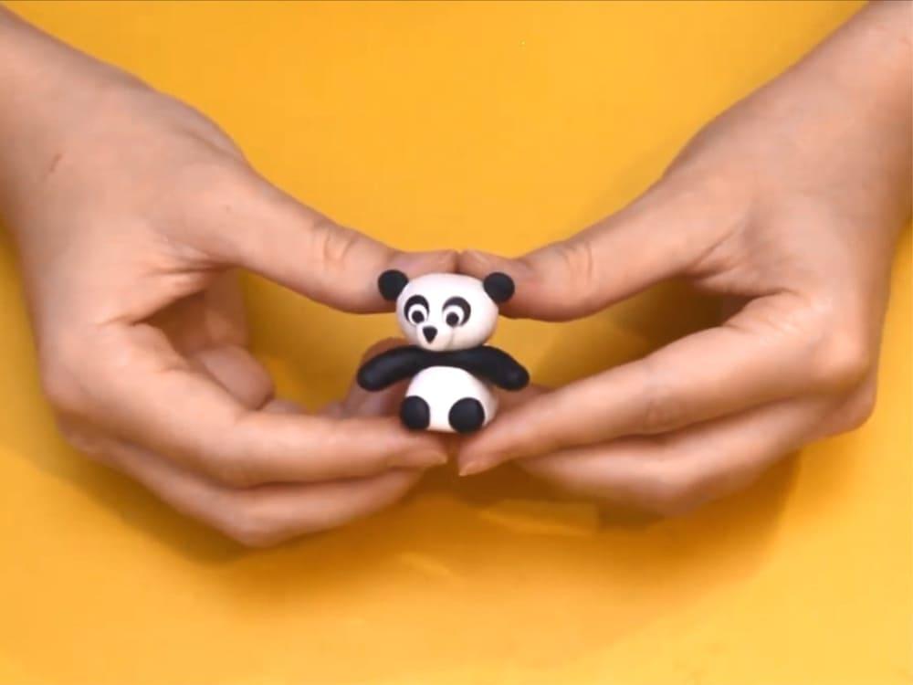 Как сделать панду из пластилина