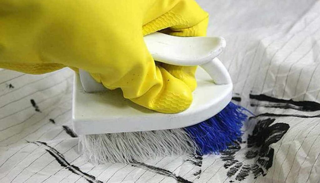 Удаление фломастера моющими средствами