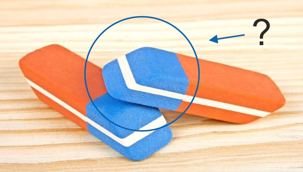 Для чего нужна синяя часть ластика