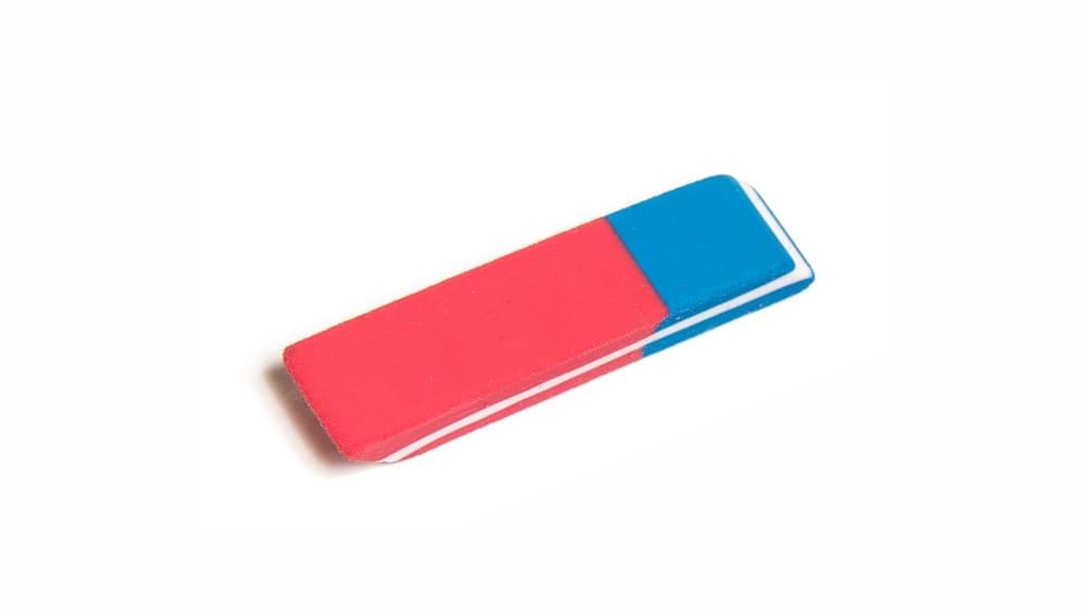 Красно-синий ластик