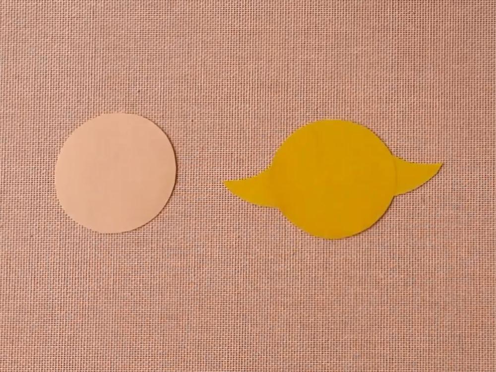Цыплёнок из бумаги для кукольного театра - фото 2