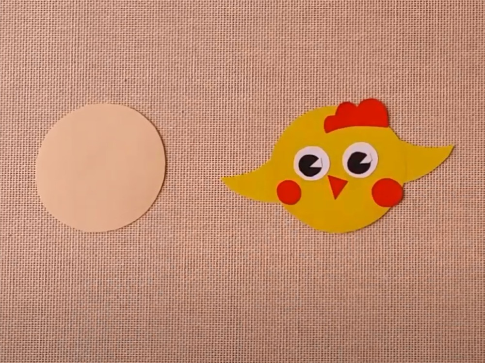 Цыплёнок из бумаги для кукольного театра - фото 3