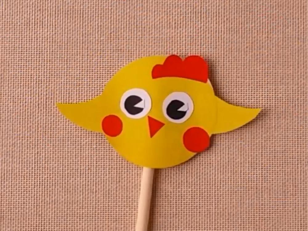 Цыплёнок из бумаги для кукольного театра - фото 4