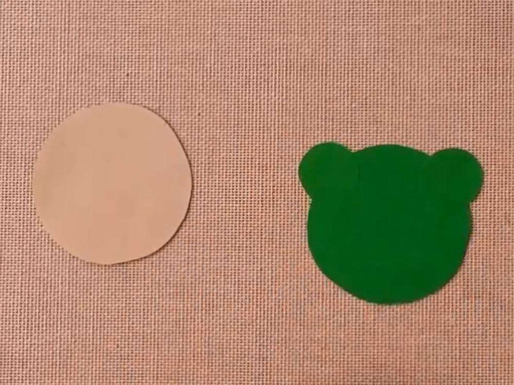 Лягушка из бумаги для кукольного театра - фото 2