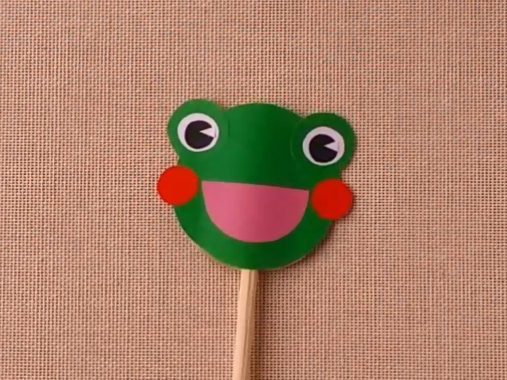 Лягушка из бумаги для кукольного театра - фото 4