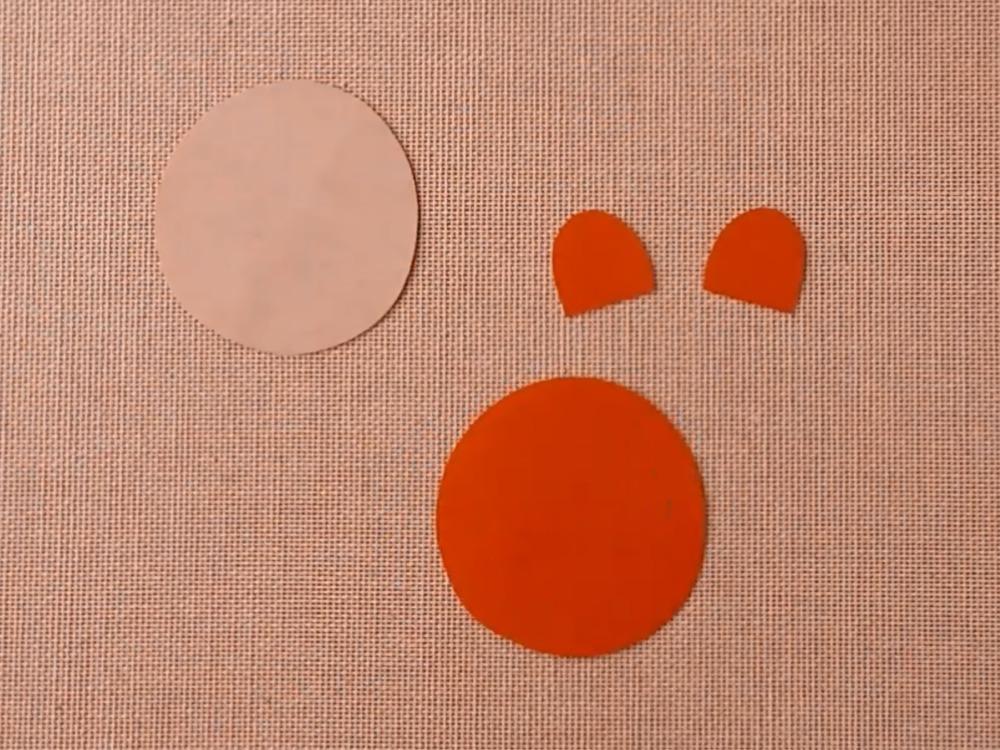 Медведь из бумаги для кукольного театра - фото 1
