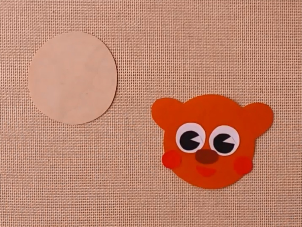 Медведь из бумаги для кукольного театра - фото 3