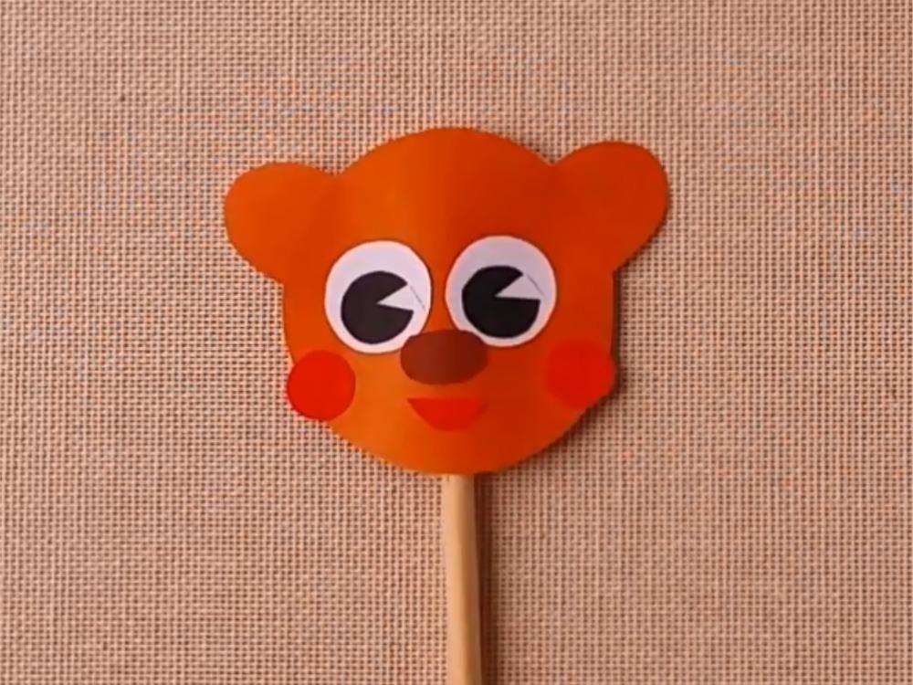 Медведь из бумаги для кукольного театра - фото 4