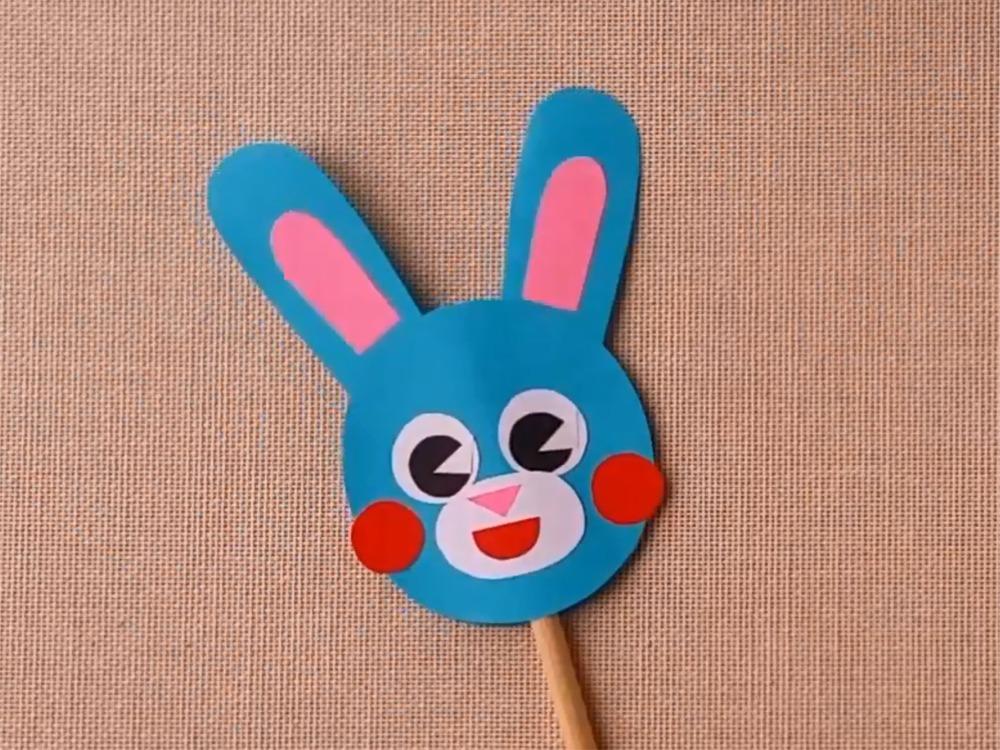 Заяц из бумаги для кукольного театра - фото 4